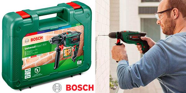 Taladro percutor Bosch Universal Impact 800 de 800 W con maletín barato