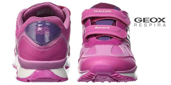 Zapatillas Geox J Pavel Girl A en color rosa fucsia en oferta en AmazonAmazon