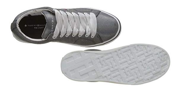 Zapatillas Tommy Hilfiger Metallic Light Weight Lace Up para mujer chollo en Amazon