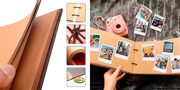 Álbum de fotos Pootack Scrapbook de 80 páginas con pegatinas barato