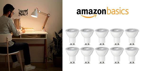 AmazonBasics bombillas LED GU10 baratas