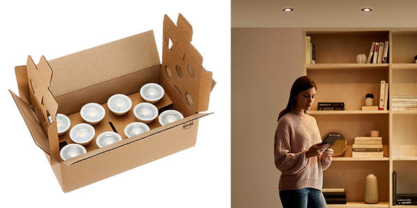 bombillas AmazonBasics LED GU10 oferta