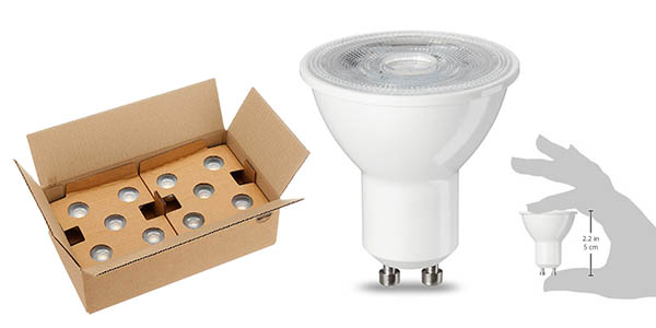 bombillas LED GU10 AmazonBasics pack ahorro