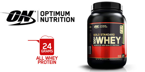 Envase Optimum Nutrition Gold Standard 100% Whey, Chocolate menta 908 gr barato en Amazon