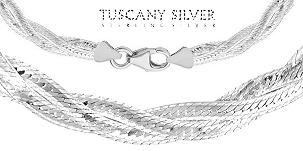 Collar de plata de ley Tuscany Silver 8.11.0913 de 41 cm para mujer chollazo en Amazon