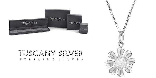 Cadena con Colgante flor Tuscany Silver de Plata de Ley (925/1000) barata en Amazon