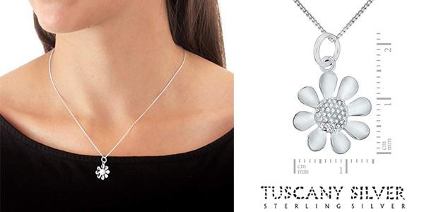Cadena con Colgante flor Tuscany Silver de Plata de Ley (925/1000) chollo en Amazon