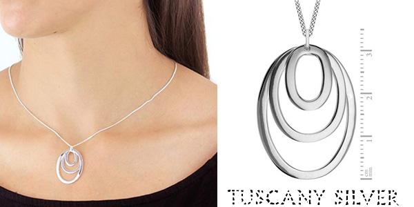 Cadena Tuscany Silver con colgante de plata esterlina de esferas concéntricas chollo en Amazon