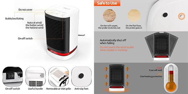 calefactor de aire cerámico Pavlit chollo