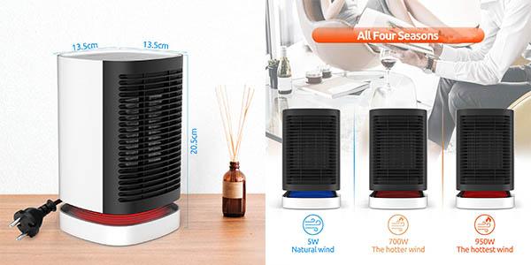 calefactor cerámico por aire potente relación calidad-precio estupenda