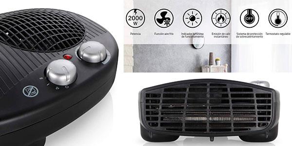 Calefactor eléctrico Orbegozo FH-5028 de 2.000 W con termostato ajustable barato