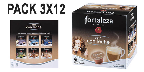 cápsulas de café con leche Fortaleza compatibles con Dolce Gusto baratas