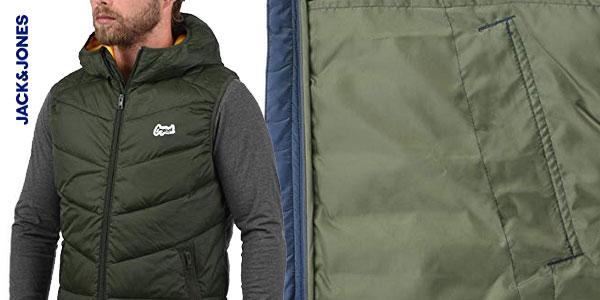 Chaleco con capucha Jack & Jones Outerwear para hombre chollo en Amazon