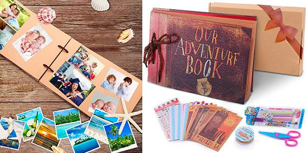 Chollo Álbum de fotos Pootack Scrapbook de 80 páginas con pegatinas