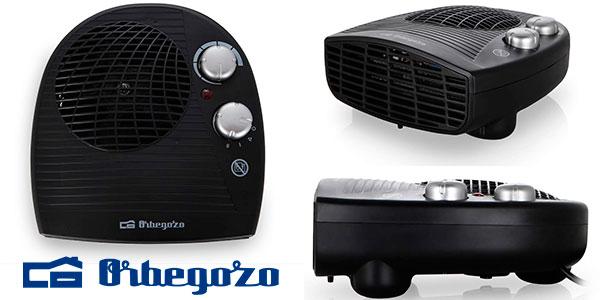 Chollo Calefactor eléctrico Orbegozo FH-5028 de 2.000 W con termostato ajustable