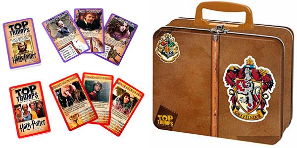 Chollo Juego de cartas Top Trumps Gryffindor de Harry Potter con lata de coleccionista