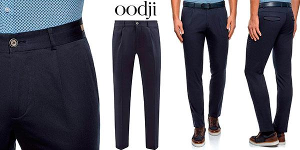 Chollo Pantalones Oodji Ultra slim con pinzas para hombre