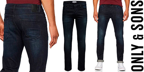 Chollo Vaqueros Only & Sons Loom Blue Jeans Slim para hombre