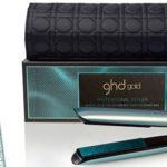 Chollo Plancha de pelo GHD Gold Glacial Blue profesional con neceser térmico