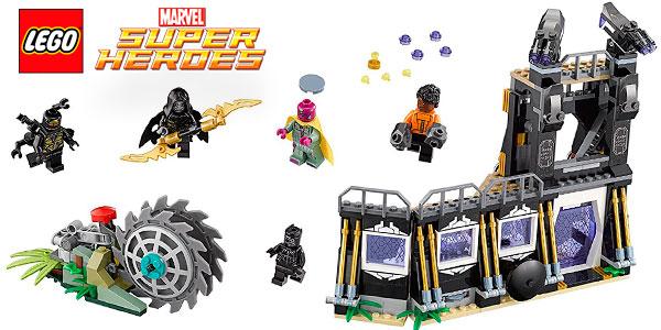 Chollo Set Ataque a la desgranadora de Corvus Glaive de LEGO Marvel con 5 minifiguras