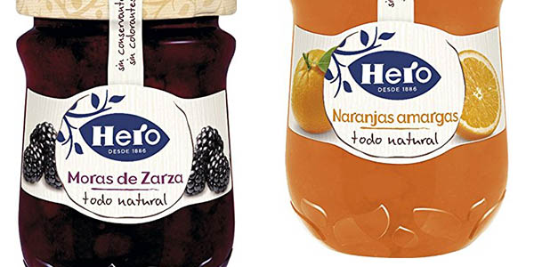 confitura natural Hero de frutas chollo