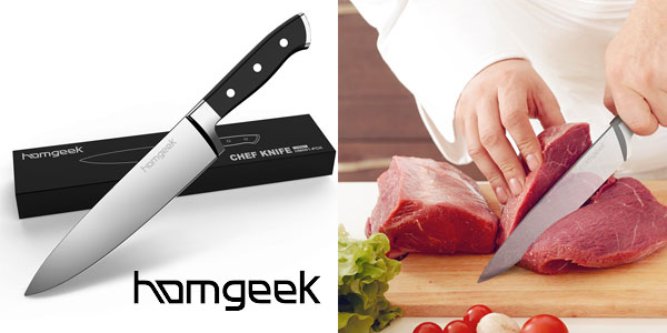 Cuchillo de Chef Homgeek de 20 cm en acero inoxidable chollo en Amazon