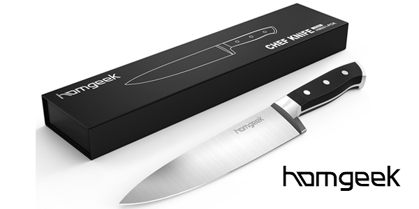 Cuchillo de Chef Homgeek de 20 cm en acero inoxidable barato en Amazon