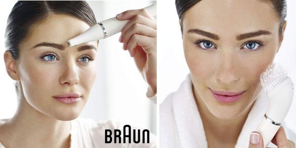Depiladora facial Braun 820 Face con cepillo de limpieza + recambio cepillo chollo en Amazon