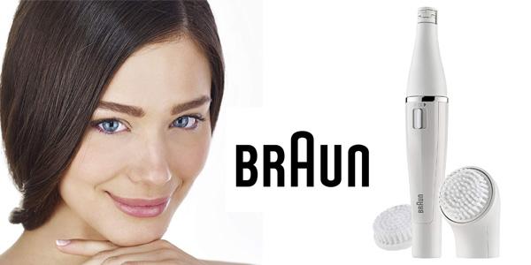 Depiladora facial Braun 820 Face con cepillo de limpieza + recambio cepillo chollazo en Amazon
