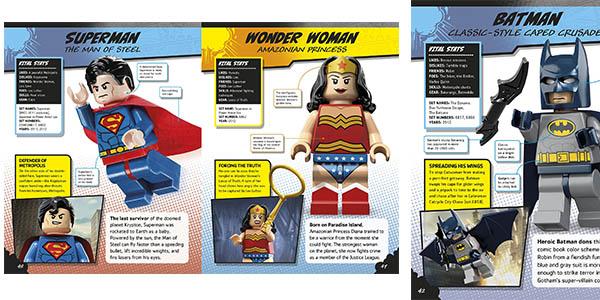 enciclopedia de super héroes LEGO DC Comics chollo
