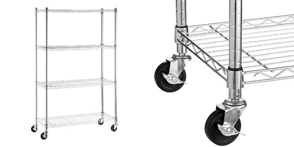 Estantería metálica con ruedas AmazonBasics barata