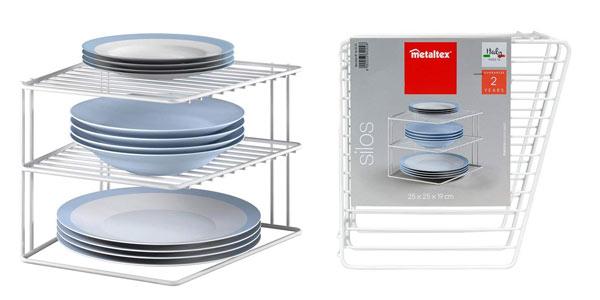 Esntantería rinconera para cocina Metaltex Silos al mejor precio en Amazon