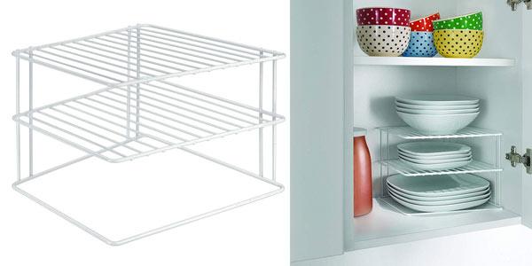 Esntantería rinconera de 3 estantes para cocina Metaltex Silos rebajada en Amazon