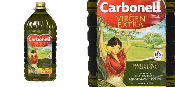 Garrafa de 5 litros Carbonell Virgen Extra barata en Amazon