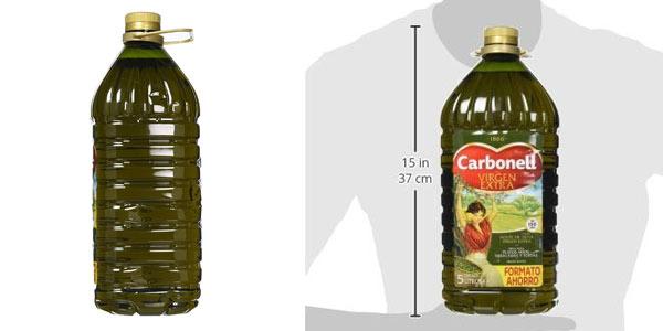Garrafa de 5 litros Carbonell Virgen Extra oferta en Amazon