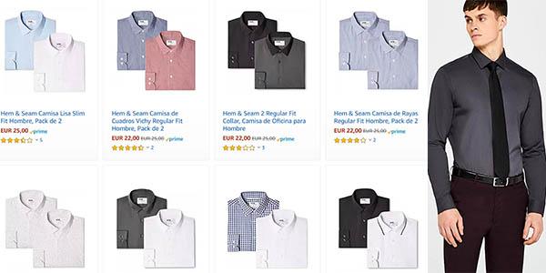 Hem Seam pack 2 camisas hombre baratas