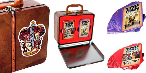 Juego de cartas Top Trumps Gryffindor de Harry Potter con lata de coleccionista barato