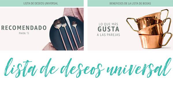 lista de boda Amazon personalizable