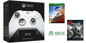 Mando Elite Xbox One Edición Especial blanco + Gears of War 4 + Forza Horizon 4 barato en Amazon Francia