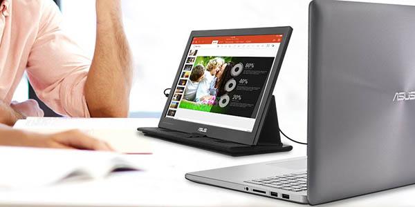 Monitor portátil ASUS MB169C+ de 15,6'' Full HD USB Tipo-C en Amazon