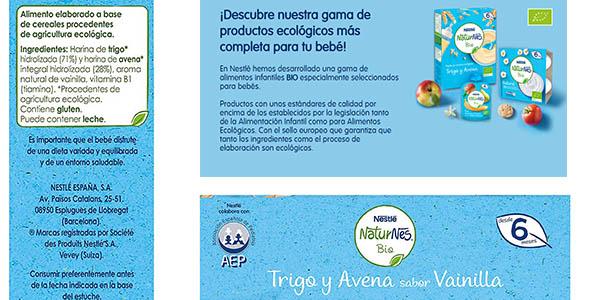 Nestlé NaturNes Bio papillas de cereales ecológicos para bebés pack ahorro