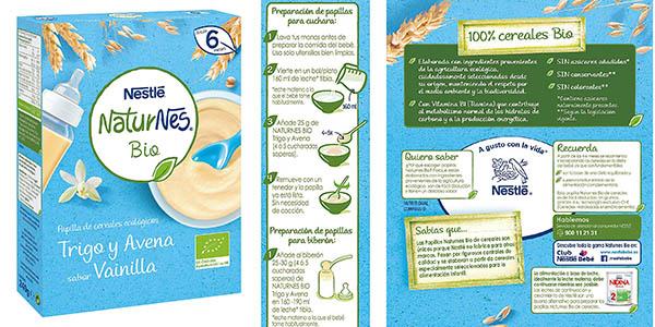 Nestlé NaturNes Bio papilla de cereales ecológica chollo