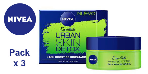 Pack x3 Gel Crema Nivea Essentials Urban Skin Detox de 50 ml/ud barato en Amazon