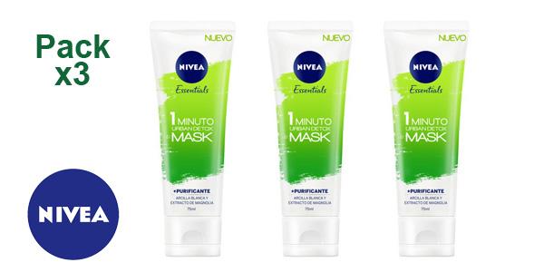 Mascarilla Nivea Essentials Urban Detox 1 Minuto de 75 ml barata en Amazon