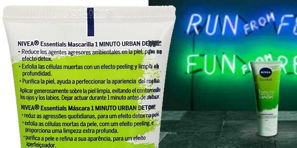 Mascarilla Nivea Essentials Urban Detox 1 Minuto de 75 ml chollo en Amazon