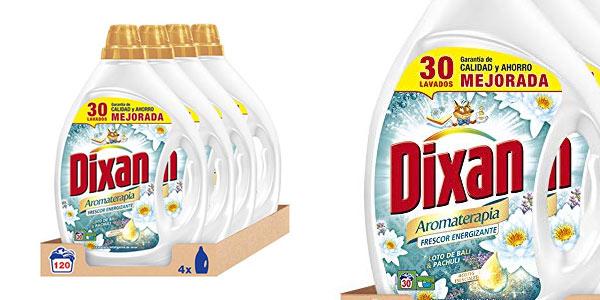 Pack de 4 botellas de detergente líquido Dixan Aromaterapia Loto de Bali y pachuli al mejor precio en Amazon