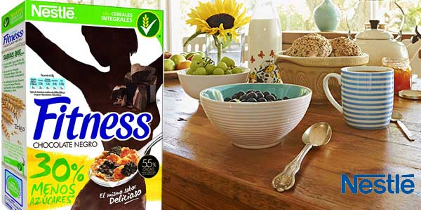 Pack x4 Cereales integrales Nestlé Fitness con Chocolate Negro chollo en Amazon
