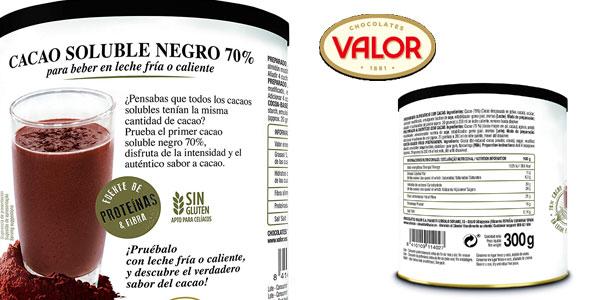 Pack x6 Cacao soluble Valor 70% chollo en Amazon