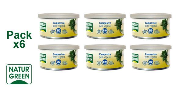 Pack x6 Paté Vegetal Campestre NaturGreen BIO a base de Verduras barato en Amazon