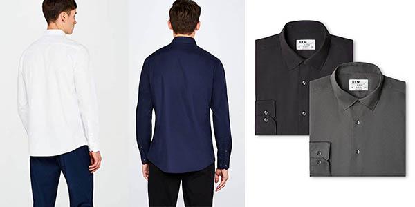 pack x2 camisas elegantes Hem Seam oferta